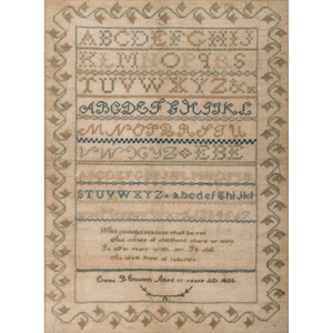 Sampler by Emma Eveleth, Dated 1823