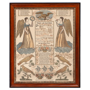 Montgomery County, Ohio Printed Fraktur for Birth and Baptism