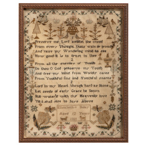 English Sampler by Elizabeth Boley, Dated 1808