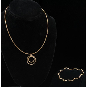 14k Gold Bracelet and Necklace
