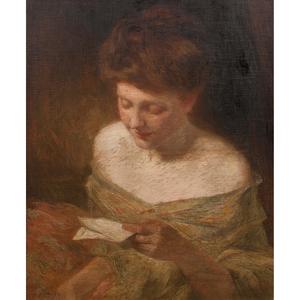 Julian Alden Weir (American, 1852-1919) Oil on Canvas