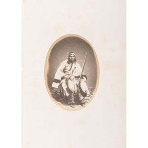 Joel Whitney, Exceptional Album Containing Large Format Photographs of Sioux Involved in the 1862 Minnesota Uprising