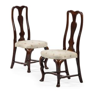 Queen Anne Black Walnut Side Chairs