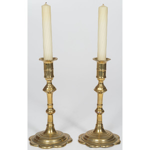 Queen Anne Brass Candlesticks