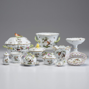 Herend Porcelain Rothschild Bird Tablewares