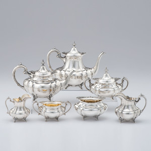Reed & Barton Sterling Seven-Piece Tea and Coffee Service, Hampton Court