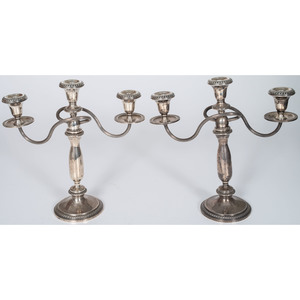 Crown Weighted Sterling Candelabra, Plus