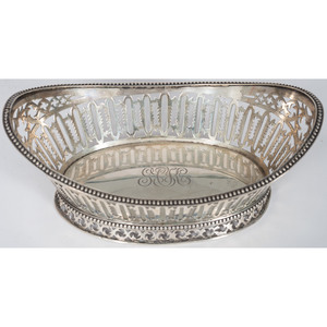 English Sterling Pierced Basket, William Comyns & Sons