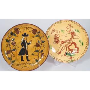 Contemporary Redware Plates