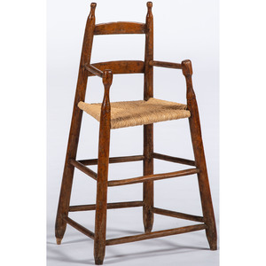 Country Ladderback High Chair