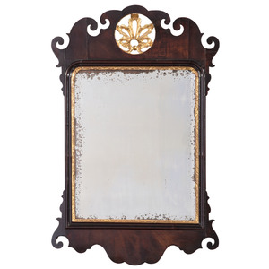 Chippendale Mirror with Tattered Shell Crest