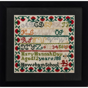 Two Alphabet Samplers by Mary Hannah Day