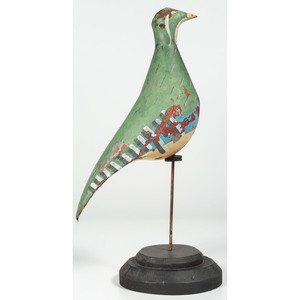 Painted Tin Partridge