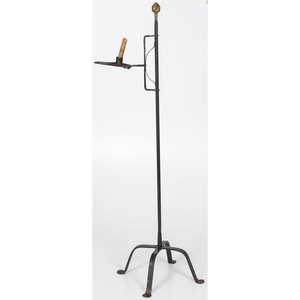 Adjustable Wrought Iron Candle Stand with Penny Feet