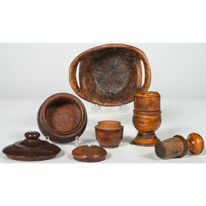 Treen and Burlwood Items