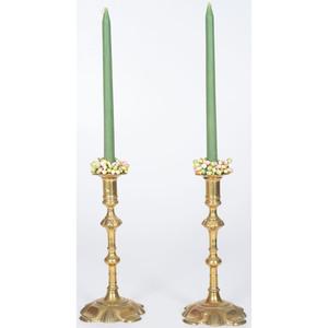 George I Brass Candlesticks