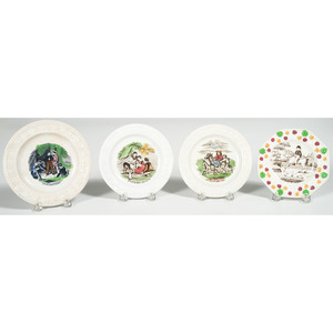 Four English ABC and Child's Plates