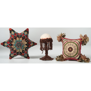 Three Fine Victorian Pin Cushions
