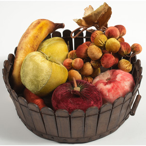 Shaker Basket with Textile Fruit