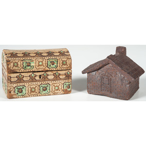 Pottery House Bank and Wallpaper Trunk Bank