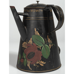 Large Toleware Coffee Pot