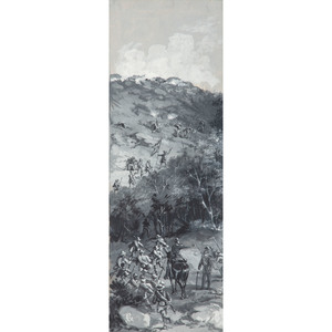 John R. Chapin, Original Artwork Depicting the Confederate Assault on Little Round Top