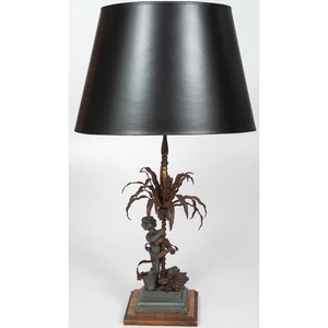 Contemporary Lamp with Putti