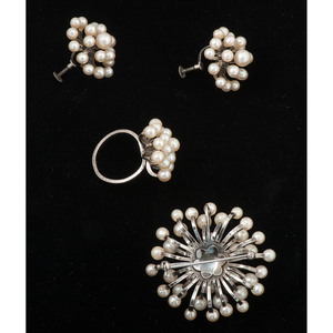 Mid-Century Cultured Pearl Jewelry