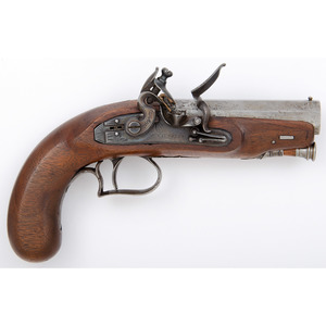Flintlock Pistol by McLaughlan of Edinburgh