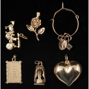 Gold Charms and Pendant PLUS