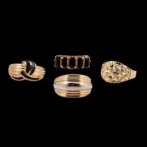 Gold Rings, Lot of Four