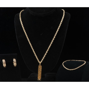 Gold Jewelry, Lot of Four