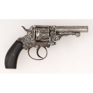 ** Engraved Belgian Cartridge Revolver