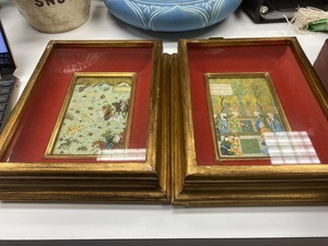 Pair of Prints in the Manner of Persian Miniatures