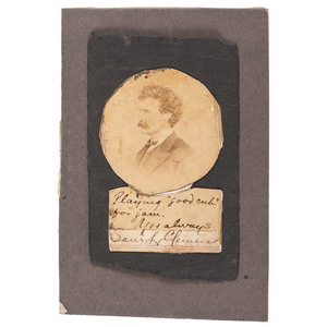 Samuel L. Clemens CDV with Signed Inscription