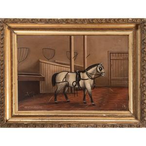 Folk Art Portrait of Jackey the Canadian, A Draft Horse