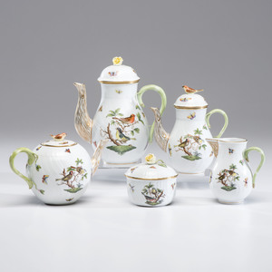 Herend Porcelain Rothschild Bird Assembled Tea Service