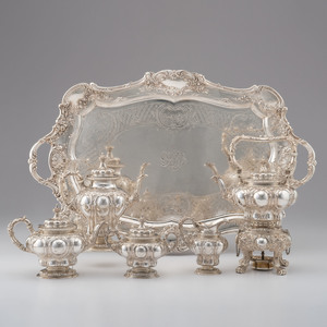 Gorham Rococo Sterling Silver Tea and Coffee Service