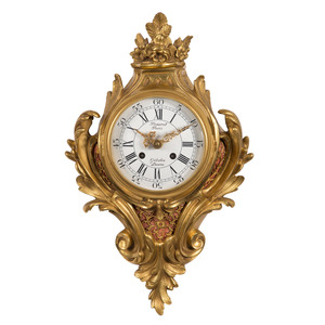 French Rococo-style Wall Clock