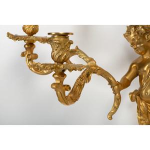 Louis XV Gilt Bronze Four Light Sconces