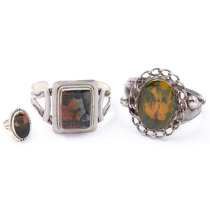 Southwestern Sterling Silver Cuff Bracelets and Ring