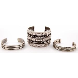 Southwestern Stamped Silver Cuff Bracelets