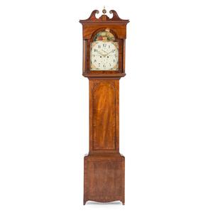 English Mahogany Tall Case Clock, Signed Robert Goodwill
