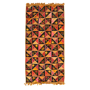 Crazy Quilt with Embroidered Patchwork