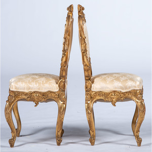 Louis XV-style Giltwood Chairs