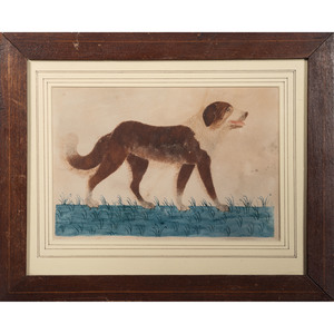 Folk Art Botanical and Dog Watercolors
