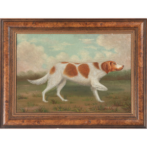 Folk Art Painting of a Pointer