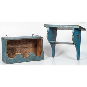 Blue Wall Box and Hanging Shelf