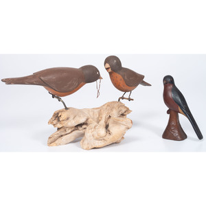 Figural Wood Carvings of Birds