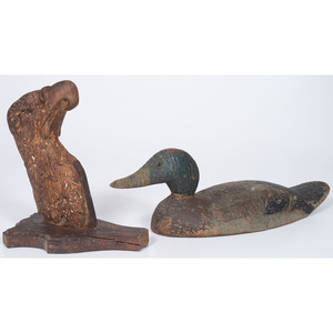 Carved Eagle Masthead & Duck Decoy